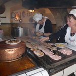 cooks at the old Wurstkuchl tavern