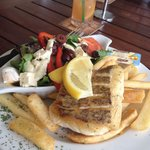 Snapper with chips n salad