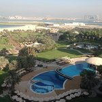 fantastic view of the grounds, pool areas and the palm
