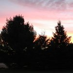 Sunset at Classy Country Bourget Inn & Spa