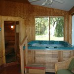 Jacuzzi at Bourget Inn & Spa