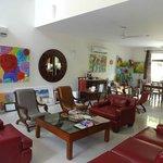 The living room at Cinnamon Nirvana