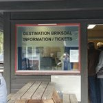 Briksdalbreen entrance and place to purchase troll car tickets
