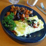 The Mediterraiean Omlete.The Red Flannal hash with it is wonderful!