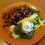 The Mexican Omelete and their excellet red flannel hash