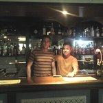 The lovely barman & my other half!