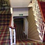 A decoraçao é uma imersão total ao clima da Escócia. Todos os cômodos possuem esse acarpetado xa