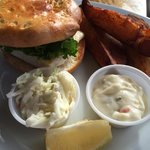Grilled Haddock sandwich with Ketch-fries