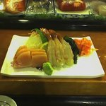 Sashimi Plat with Hamachi and Ama Ebi
