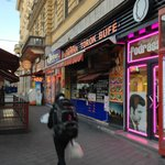 Kebab shop and a few shops nearby (as well as underground metro)