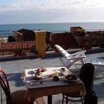 la colazione in terrazza