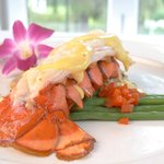Lobster Tail with hollandaise seasonally available.