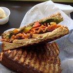 spicy thai chicken panini
