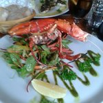 My lobster...very inviting;hubby attacked it with gusto!