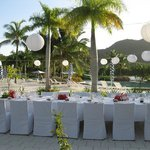 Pool Terrace Wedding Reception