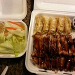 Chicken and gyoza