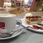 Coffe and delicious tiramisu cake