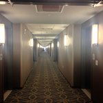Very long well lit hallways