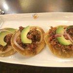 Spicy marlin tostadas