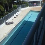 View of Lap Pool from room balcony