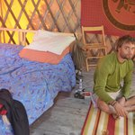 inside the Green Yurt