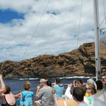 The back side of Molokini which is very different