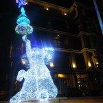 Elephant Christmas decoration outside the hotel
