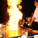 show at the Hibachi table