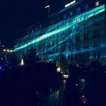 Hotel front laser light show