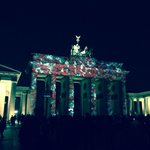 Brandenburg Gate projected art show...