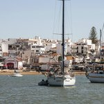 The view of Alvor from the boat upon return.