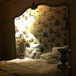 Das sehr bequeme und feine Bett