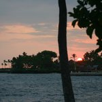 Sunset across Kona bay