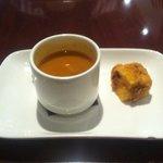 Lentil soup appetiser