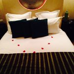 Rose petals in the lovely 'Green Eyes' room