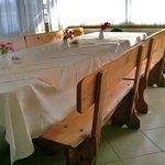 Breakfast room wood table