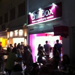 Chillbox at night - in the Summer months open until the early hours...