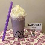 Bubble Tea de Taro con Nata
