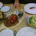 Delicious Procureur for 3 persons with baked potatoes and typical Dutch salad