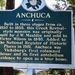 Historic sign for Anchuca