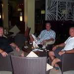 Friends in lobby bar