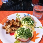 Best Eggs Benedicts made with Arepas I've ever Tasted!
