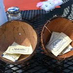Thought this was so creative! Coconut sugar containers!