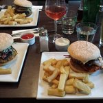 Veg burgers and chicken burger at the vault