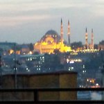 The Blue Mosque from the room terrace