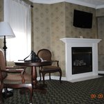 Fireplace in room 202