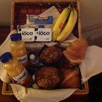 Tasty breakfast in a basket!