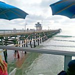 View of the pier from the Oyster Bar side.