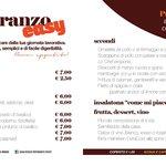 menu del pranzo