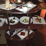 The tray of sumptuous desserts